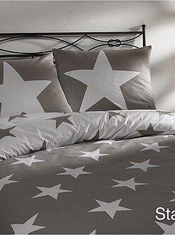 Ropa de cama infantil - Juego de cama con estampado de estrellas