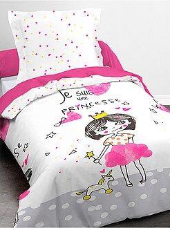 Ropa de cama infantil - Juego de cama con estampado de 'princesa' funda nórdica + funda de almohada - Kiabi