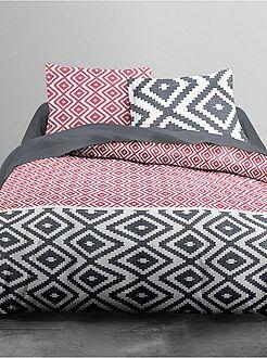 Ropa de cama adulto - Juego de cama con motivos geométricos - Kiabi