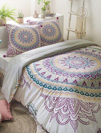 Juego de cama de algodón percal con estampado 'mandala' - Kiabi