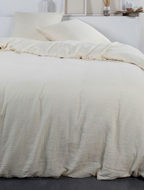 Juego de cama de gasa de algodón                                                     BEIGE