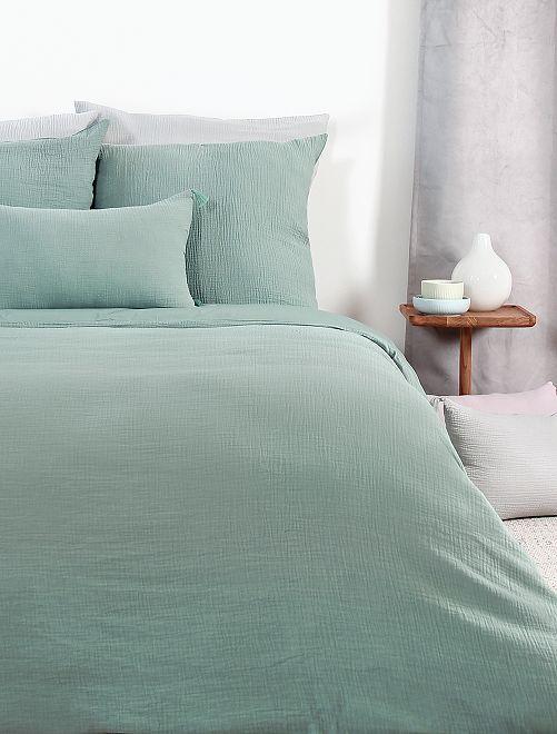 Juego de cama de gasa de algodón individual                             BEIGE