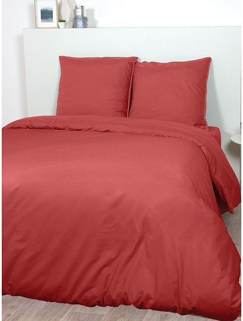Juego de cama de raso de algodón                                                                                         ROJO