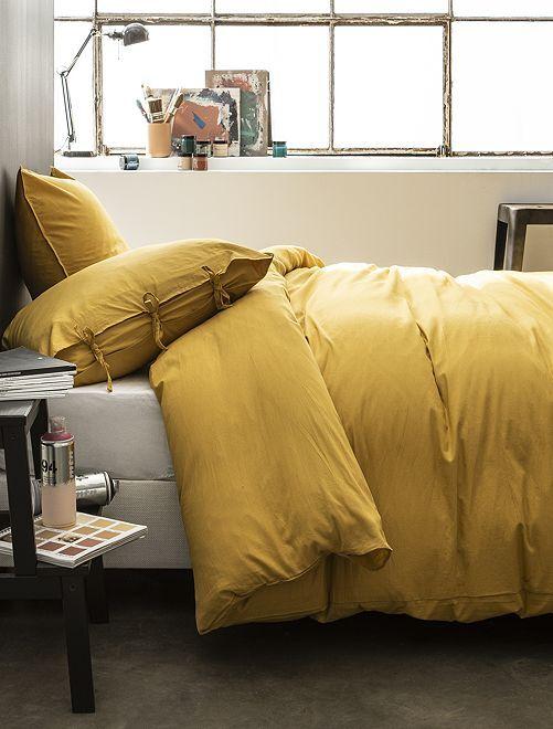 Juego de cama doble                             amarillo