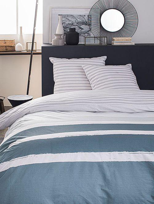 Juego de cama doble                             azul