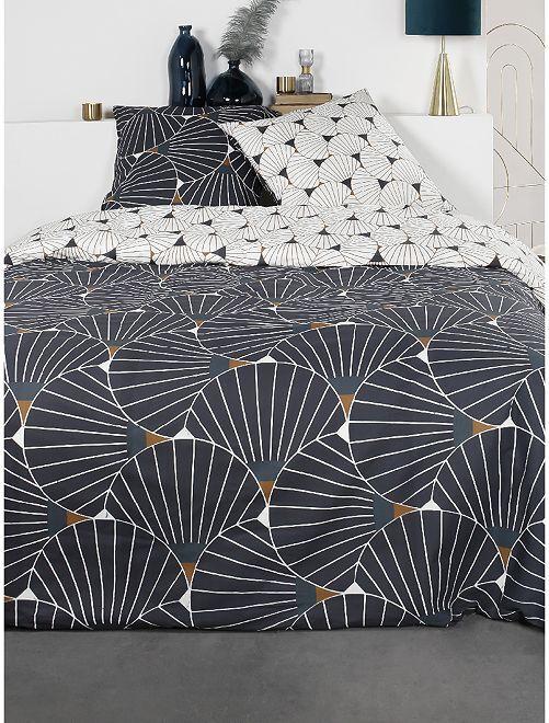 Juego de cama doble                             azul marino