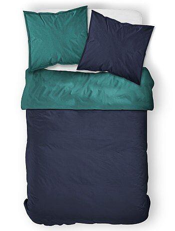 Juego de cama doble bicolor - Kiabi