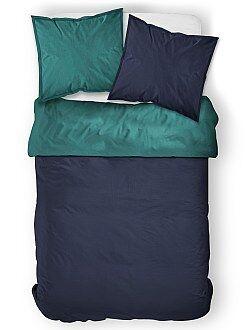 Hogar - Juego de cama doble bicolor - Kiabi
