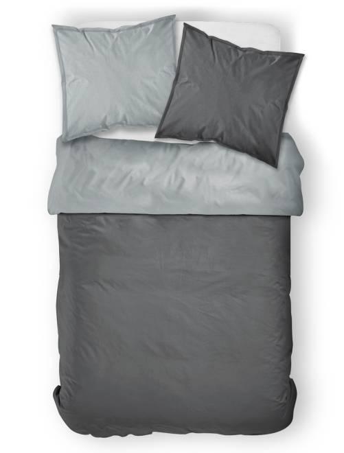 Juego de cama doble bicolor hogar gris antractita for Cama doble nina