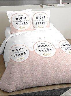 Ropa de cama adulto - Juego de cama doble con estampado de fantasía - Kiabi