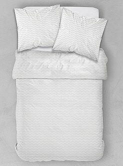 Ropa de cama adulto - Juego de cama doble con estampado geométrico dorado