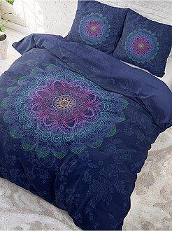 Ropa de cama adulto - Juego de cama doble con estampado 'mandalas'
