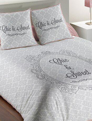 Juego de cama doble con motivos barrocos - Kiabi