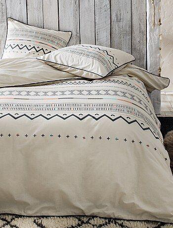 Juego de cama doble de algodón - Kiabi