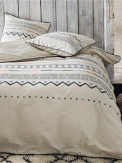 Hogar - Juego de cama doble de algodón - Kiabi