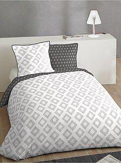 Ropa de cama adulto - Juego de cama doble de algodón - Kiabi