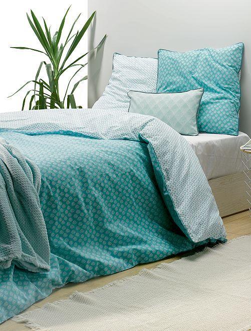 Juego de cama doble estampado                             azul