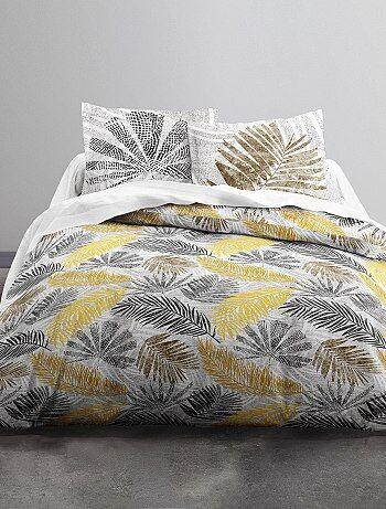 Juego de cama doble estampado 'hojas' - Kiabi