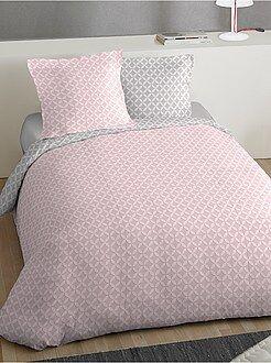 Ropa de cama adulto - Juego de cama doble estampado 'rosetón' - Kiabi