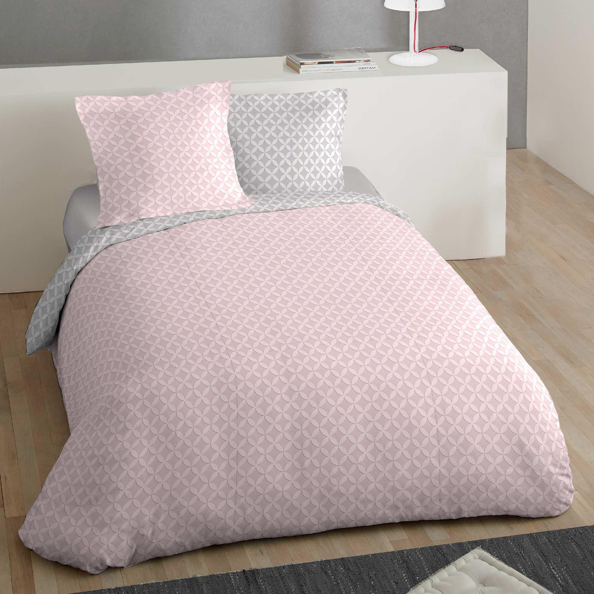 Juego de cama doble estampado 39 roset n 39 hogar rosa - Doble cama para ninos ...