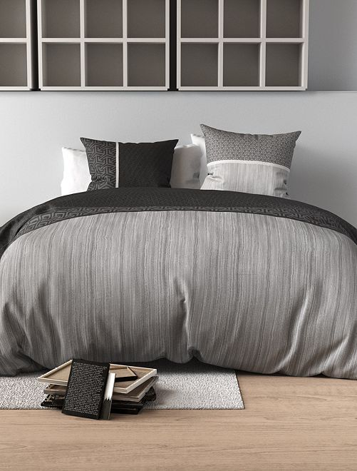 Juego de cama doble                             gris