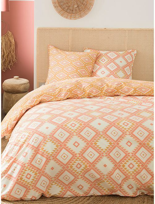 Juego de cama doble                             naranja