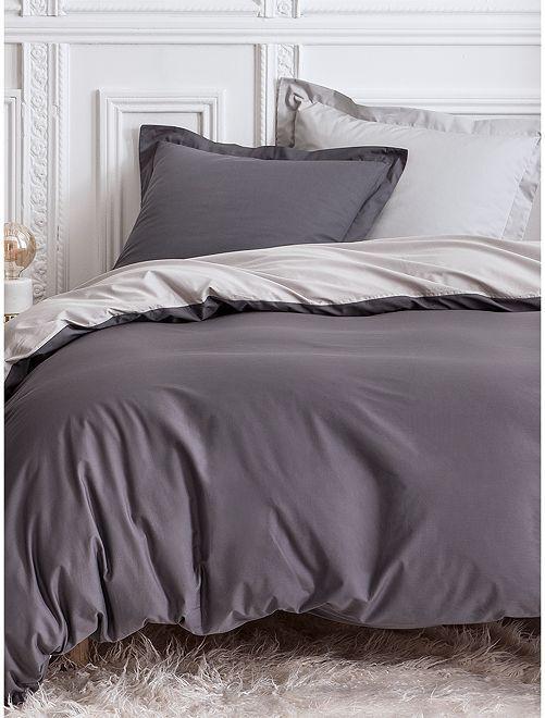 Juego de cama doble reversible                             GRIS