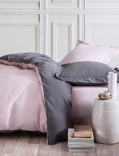 Juego de cama doble reversible                             ROSA