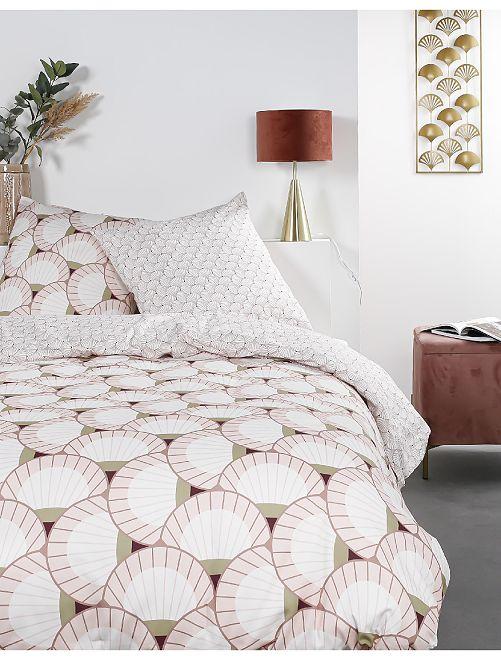 Juego de cama doble                             rosa