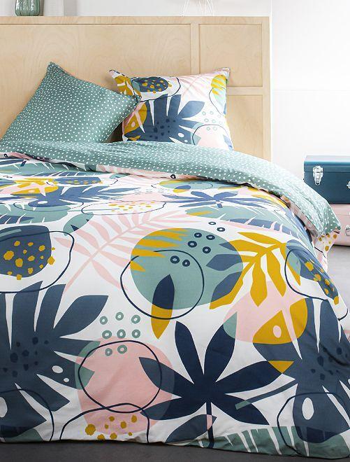 Juego de cama doble                             rosa/azul