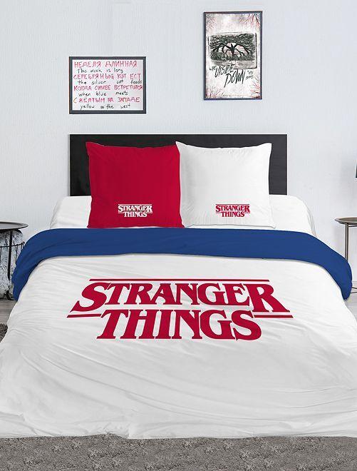 Juego de cama doble 'Stranger Things'                             blanco