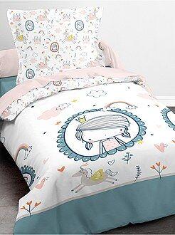Juego de cama estampado 'princesa' y 'unicornio' - Kiabi
