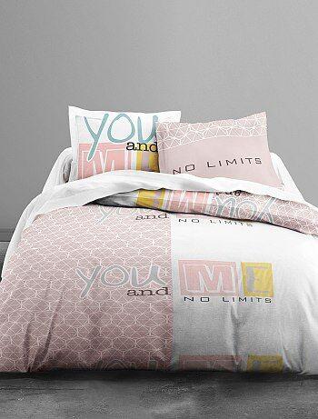 Juego de cama estampado 'you and me' - Kiabi