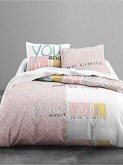 Ropa de cama adulto - Juego de cama estampado 'you and me'