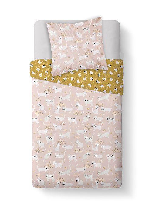 Juego de cama 'gatos'                             rosa