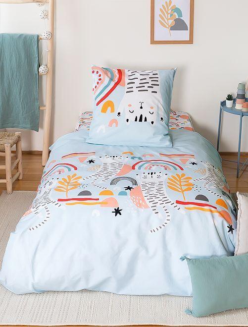 Juego de cama individual                             azul