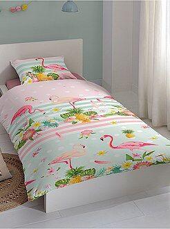 Juego de cama individual con estampado de 'flamencos rosas'