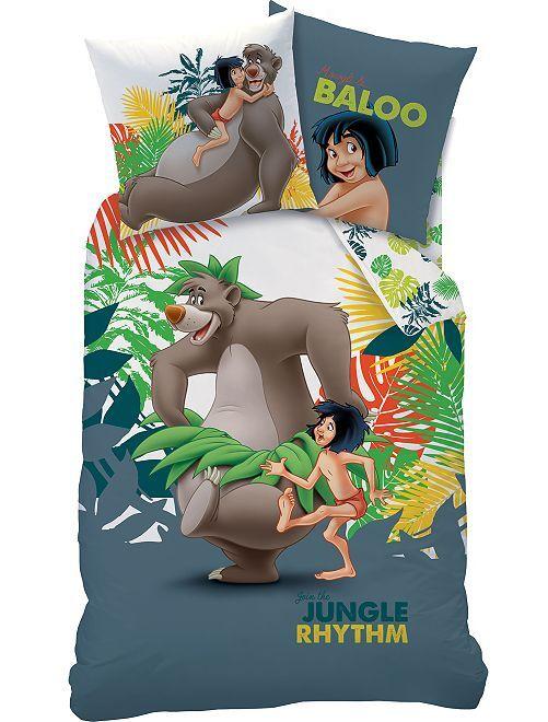 Juego de cama individual 'El libro de la selva'                             blanco