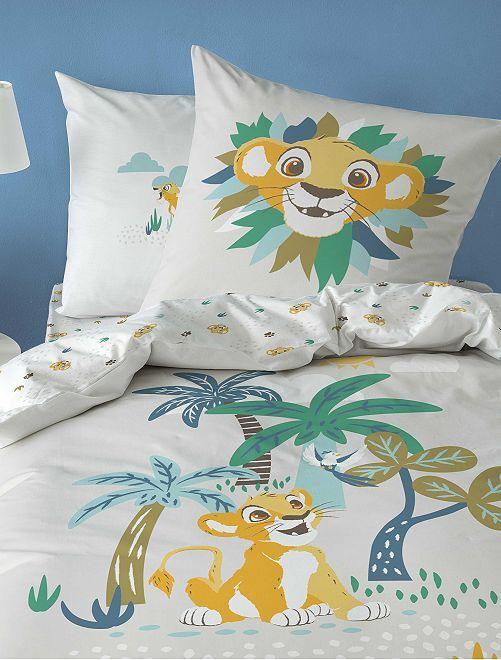 Juego de cama individual 'El Rey León'                             blanco