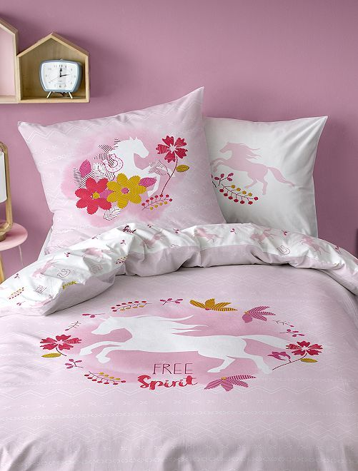 Juego de cama individual estampado 'Free Spirit'                             ROSA