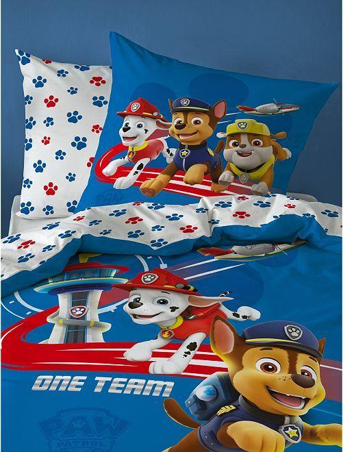 Juego de cama individual 'La Patrulla Canina'                             azul