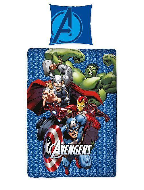 Juego de cama individual 'Los Vengadores' de 'Marvel'                             azul