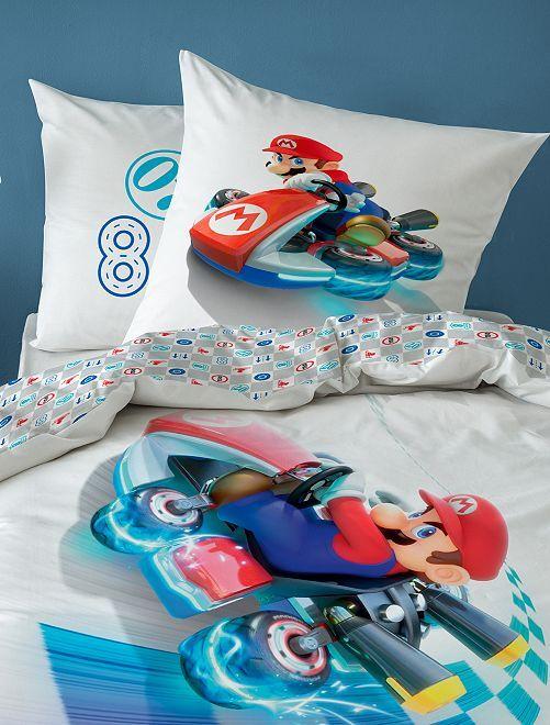Juego de cama individual 'Mario Kart'                             blanco