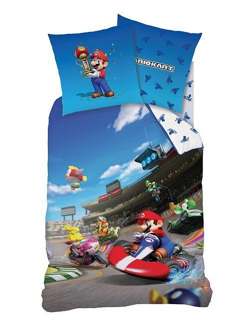 Juego de cama individual 'Mariokart'                             azul Hogar