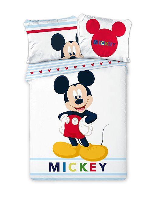 Juego de cama individual 'Mickey'                             blanco