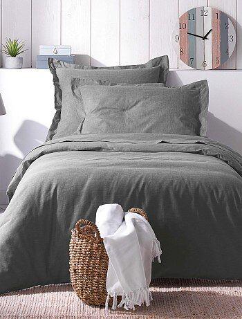 e47a25b9584 Juego de cama individual o doble de efecto chambray - Kiabi