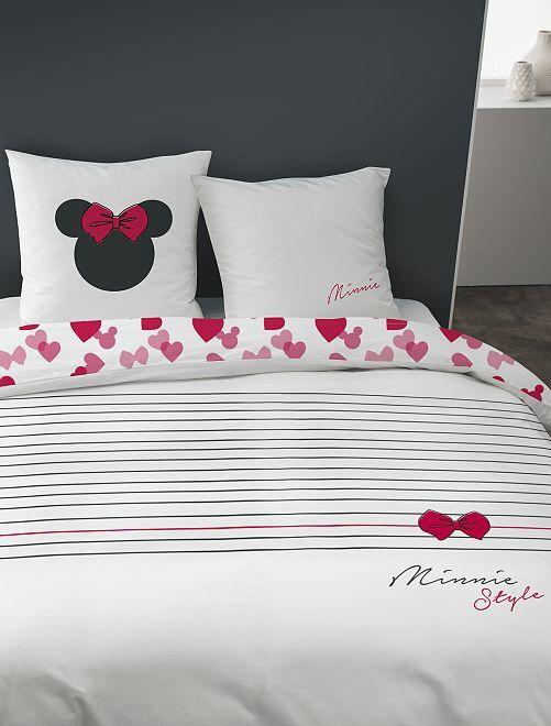 Juego de cama individual o doble 'Minnie'                             blanco