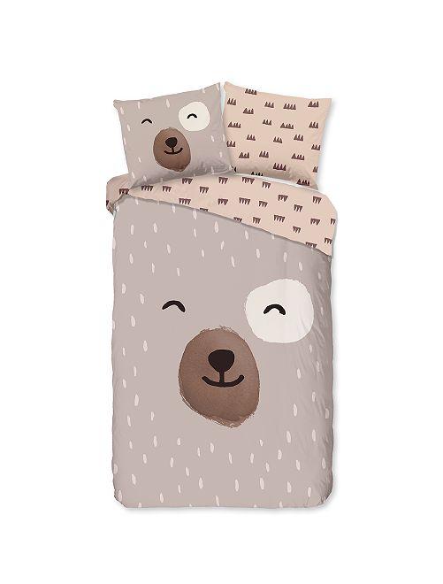 Juego de cama individual 'oso'                             topo