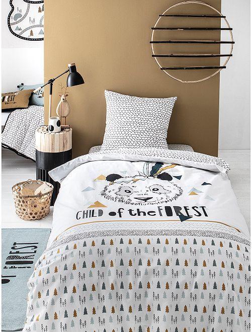 Juego de cama individual 'panda'                             beige