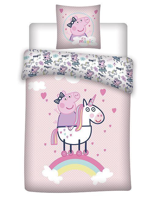 Juego de cama individual 'Peppa Pig'                             rosa